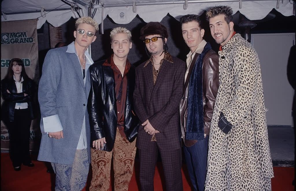 NSYNC with large suits