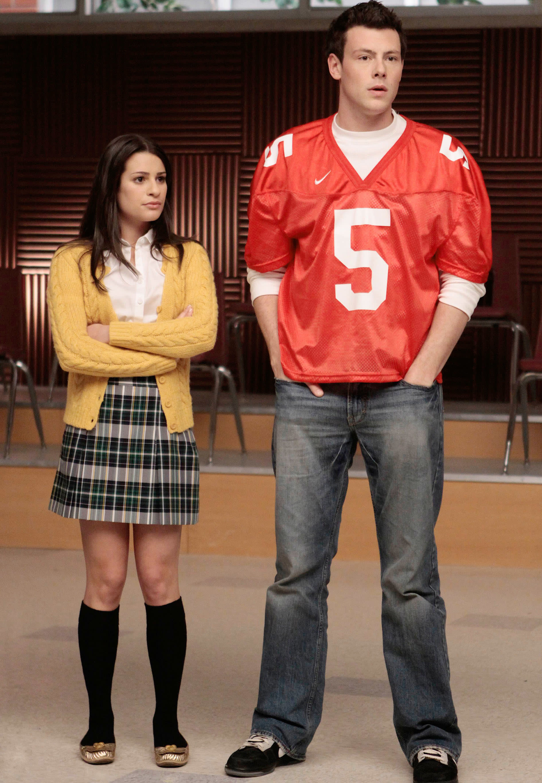 "Lea Michele and Cory Monteith on ""Glee"""