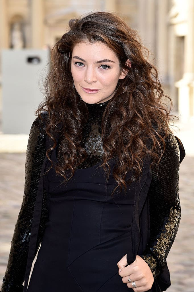 Lorde attends the Christian Dior show as part of the Paris Fashion Week Womenswear Fall/Winter 2015/2016