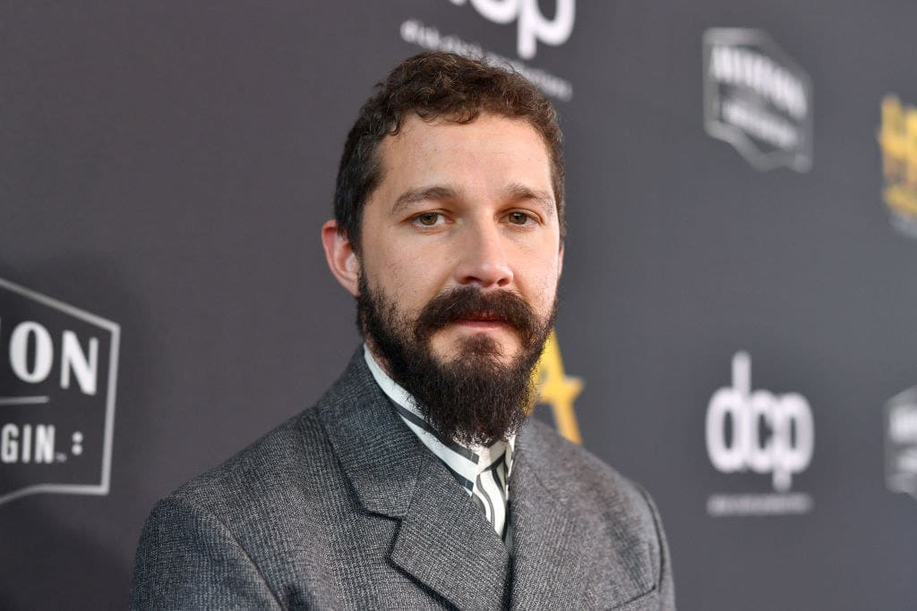 Shia LaBeouf on the red carpet at an press event