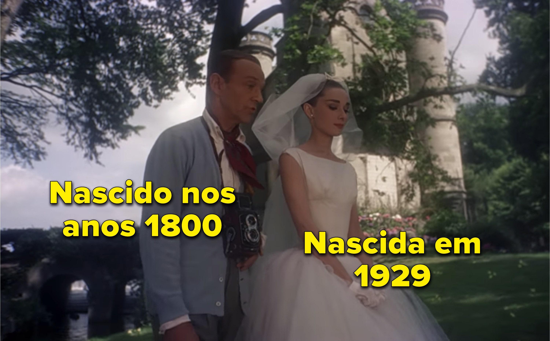 """Fred Astaire e Audrey Hepburn em """"Cinderela em Paris"""""""