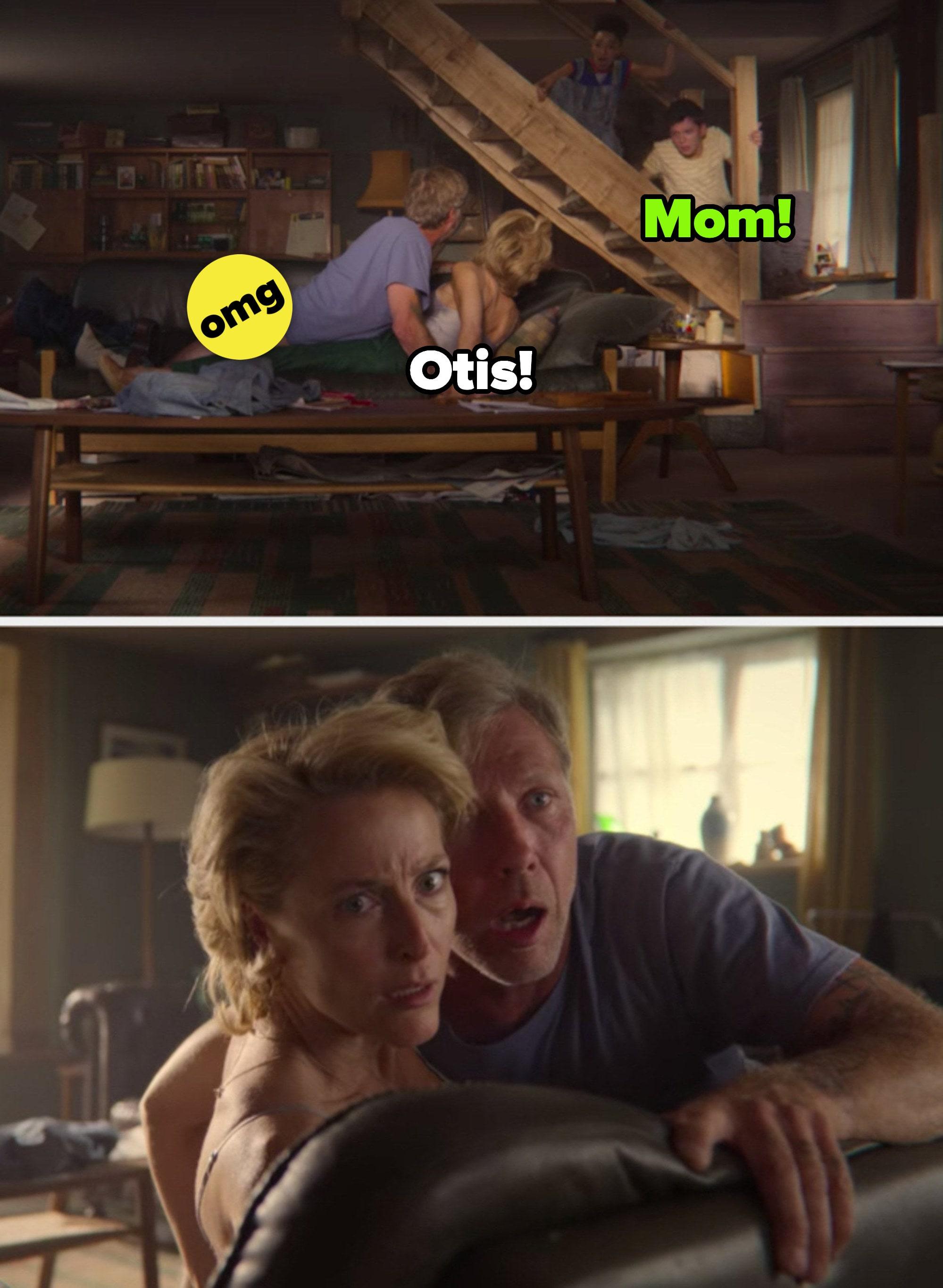 """Otis pegando Jean e Jakob fazendo sexo em """"Sex Education"""""""