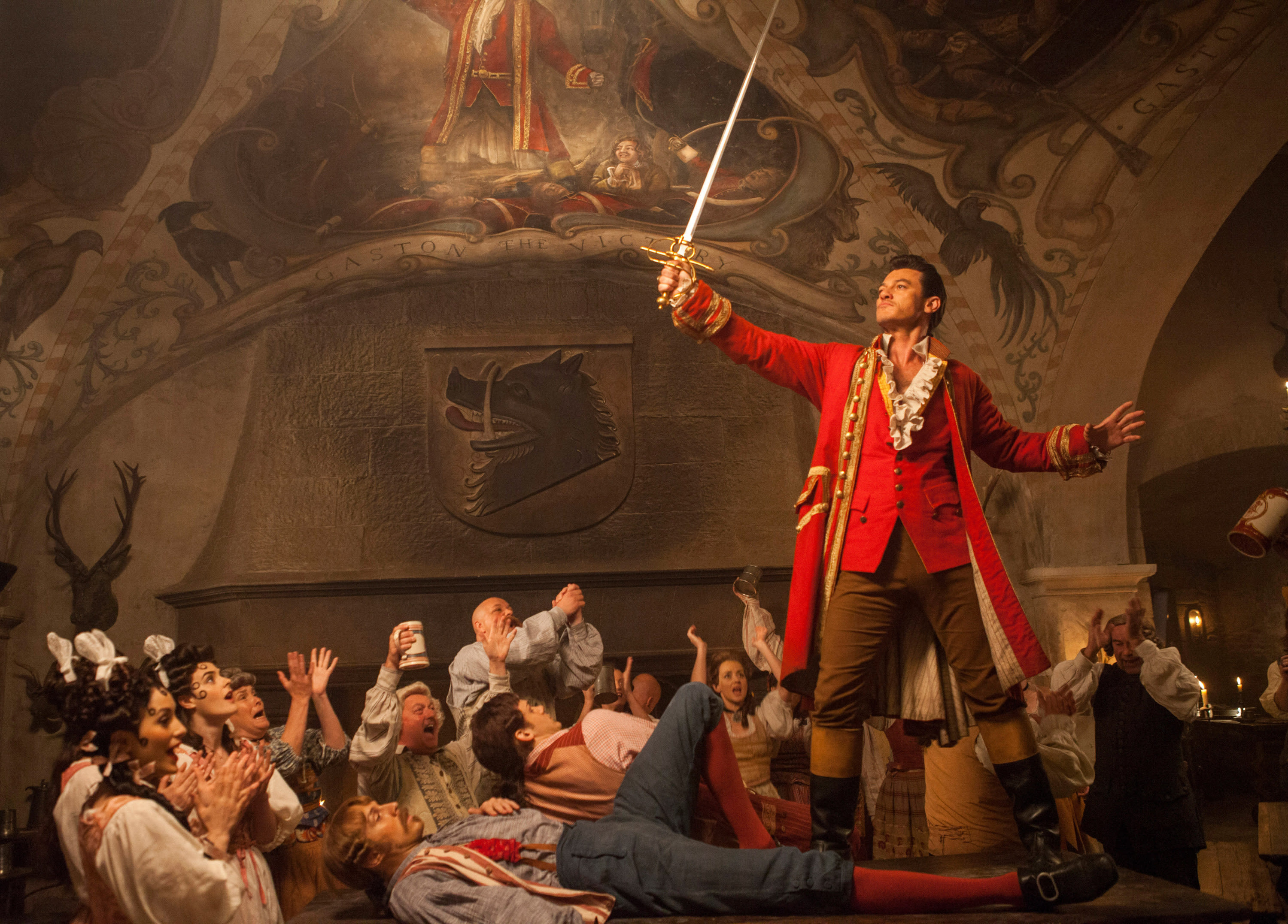 Gaston in the live-action Beauty and the Beast