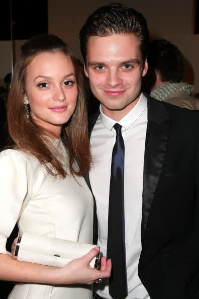 Leighton and Sebastian standing together and smiling