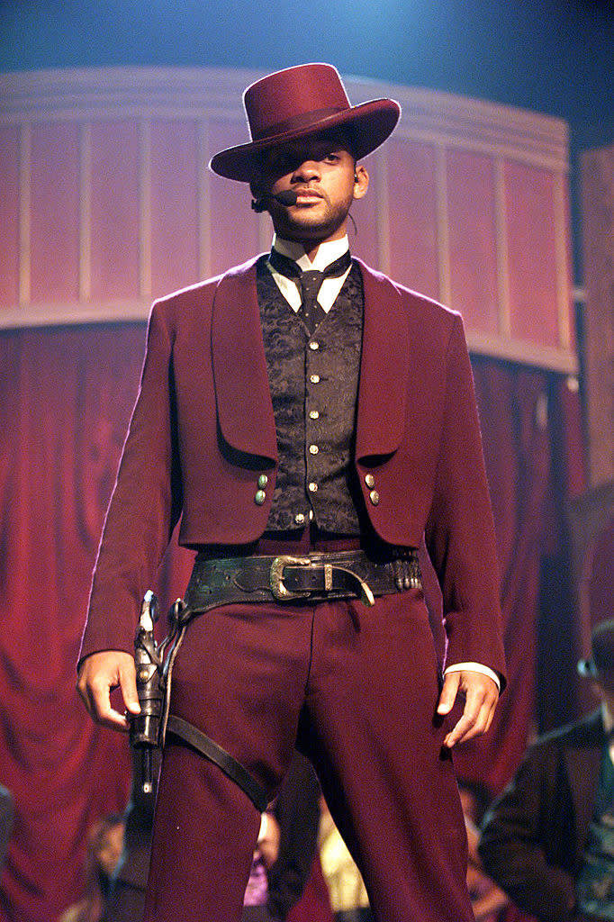 Will Smith performs the song 'Wild Wild West,' on the 1999 MTV Movie Awards