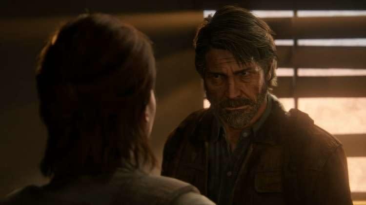 Joel conversando com Ellie