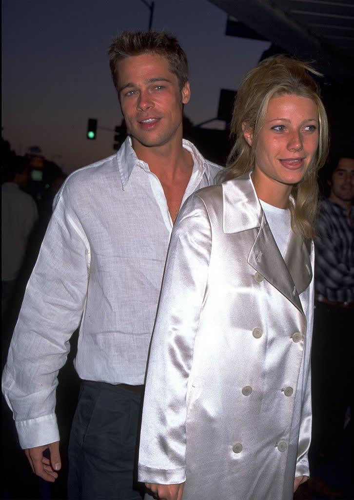 Foto de Gwyneth Paltrow e Brad Pitt.