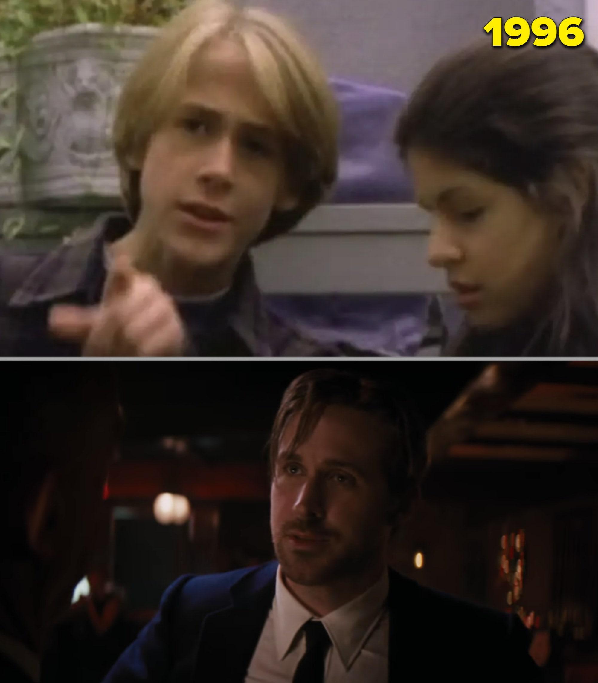 """Ryan Gosling em """"Goosebumps"""" nos anos 90 e em """"La La Land"""" já adulto"""