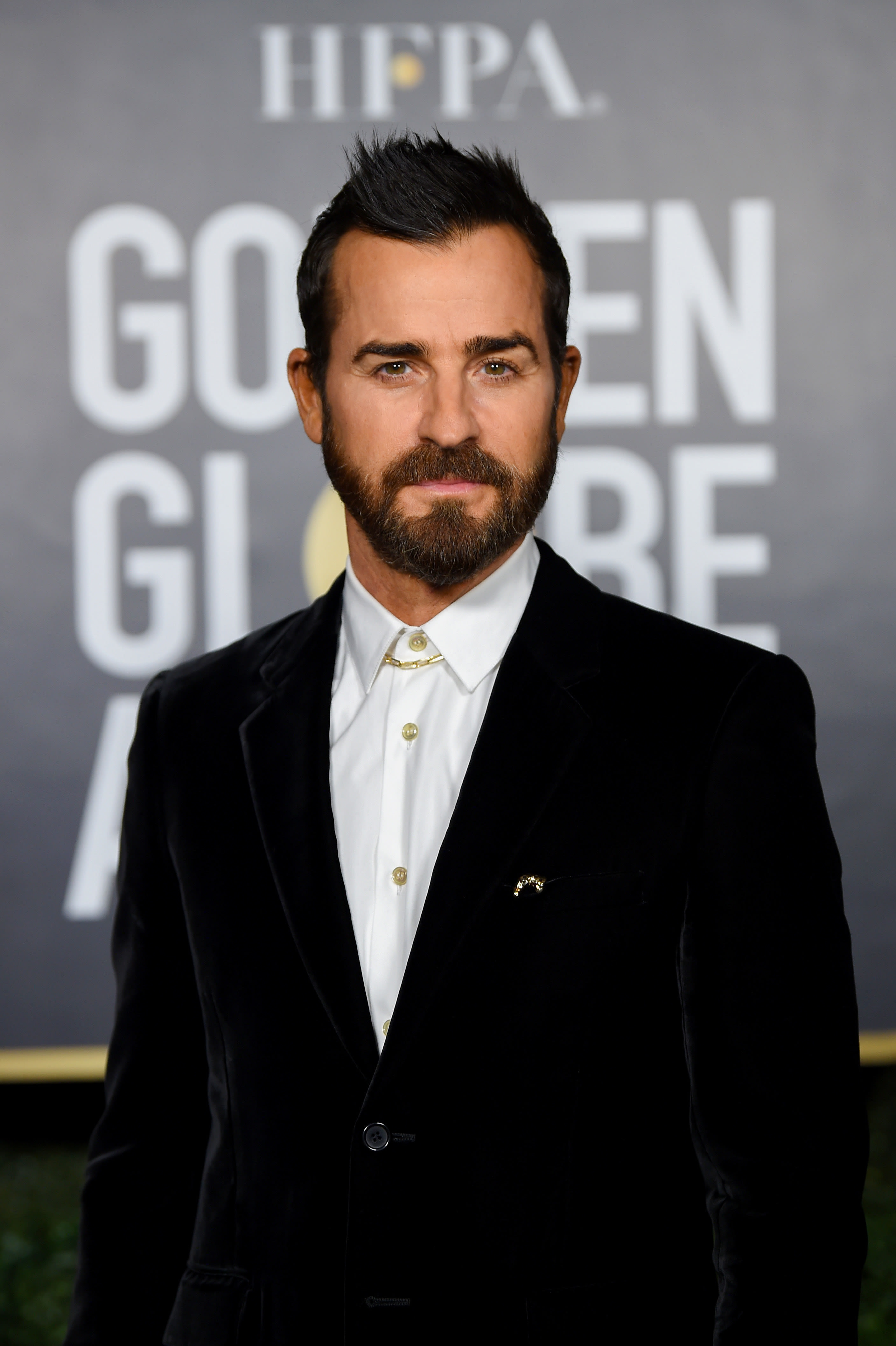 Theroux at the Golden Globe Awards in 2021