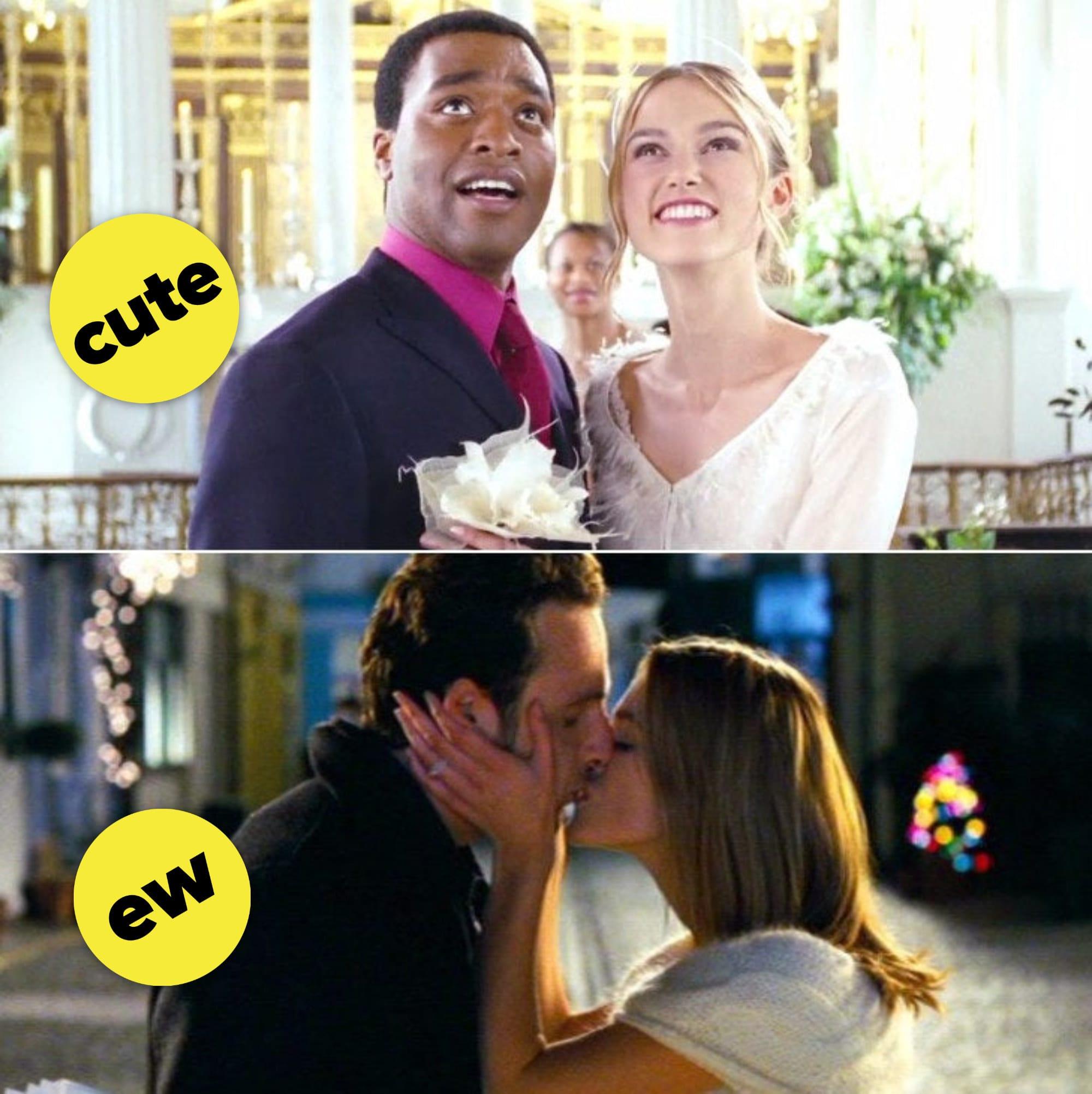 Peter e Juliet e Juliet beijando Mark