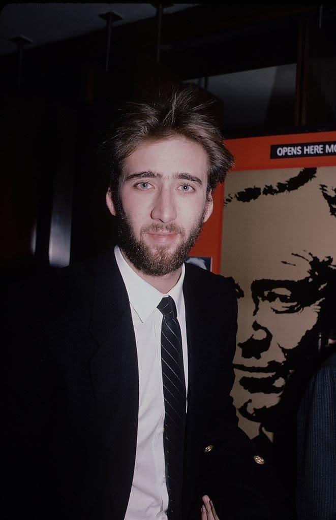 Nicolas Cage quando era mais novo.