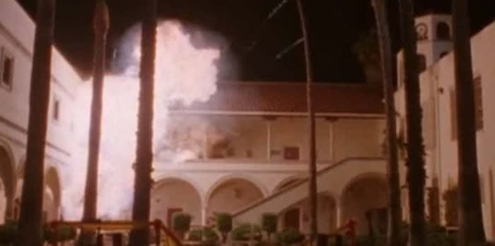 the school blows up