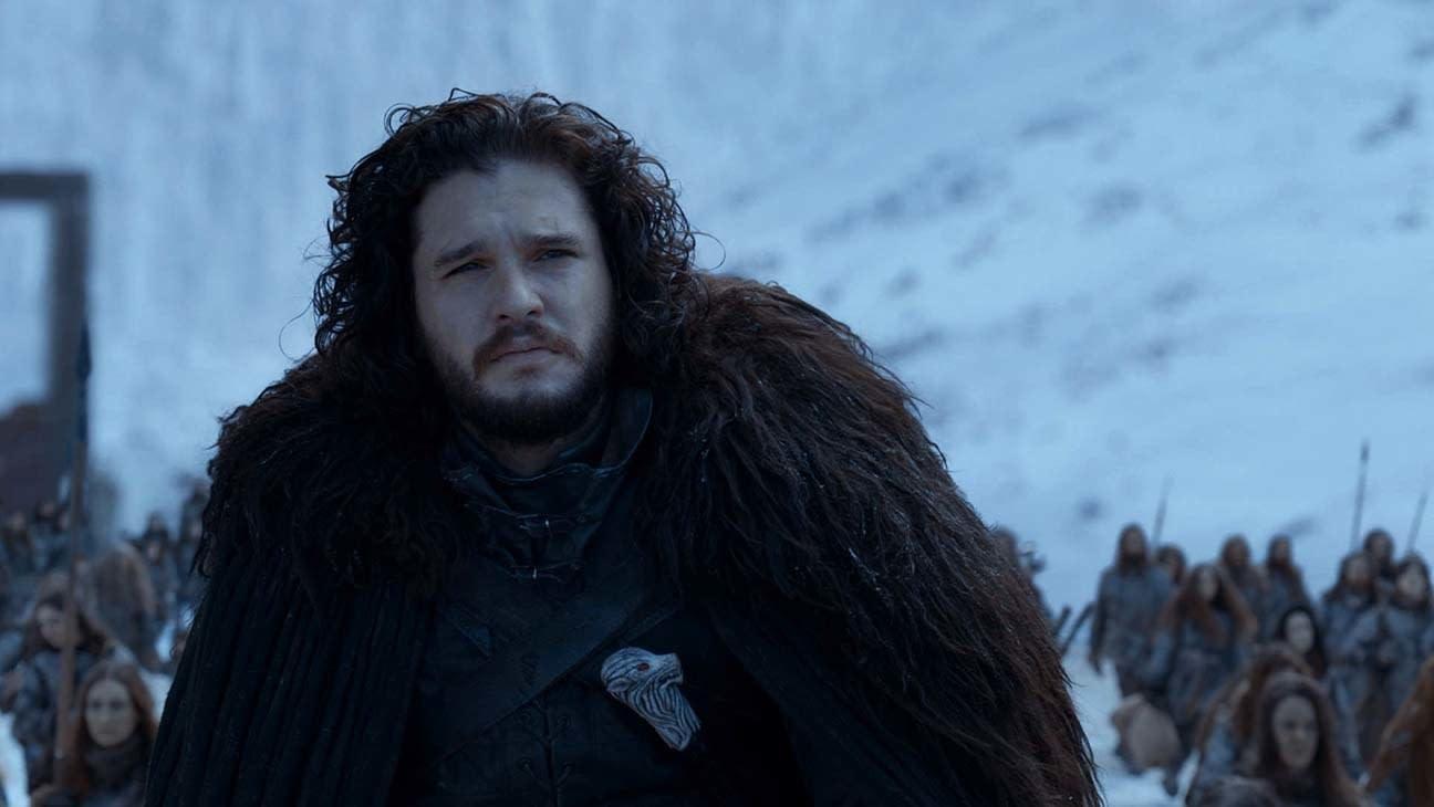 Cena de Jon Snow na série.