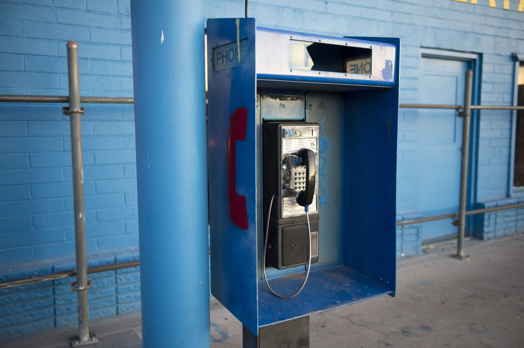 An old pay phone