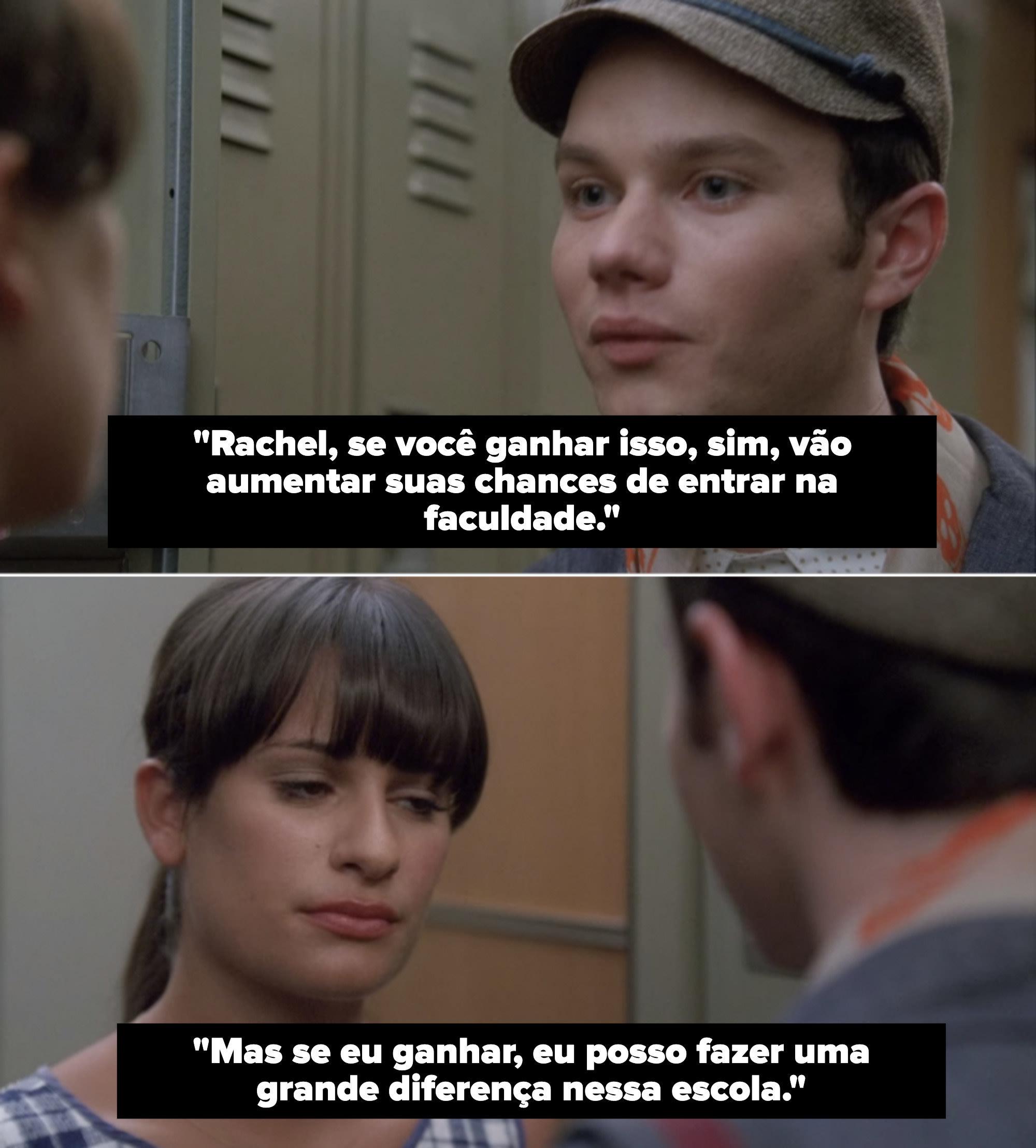 Kurt confronts Rachel over the class election.