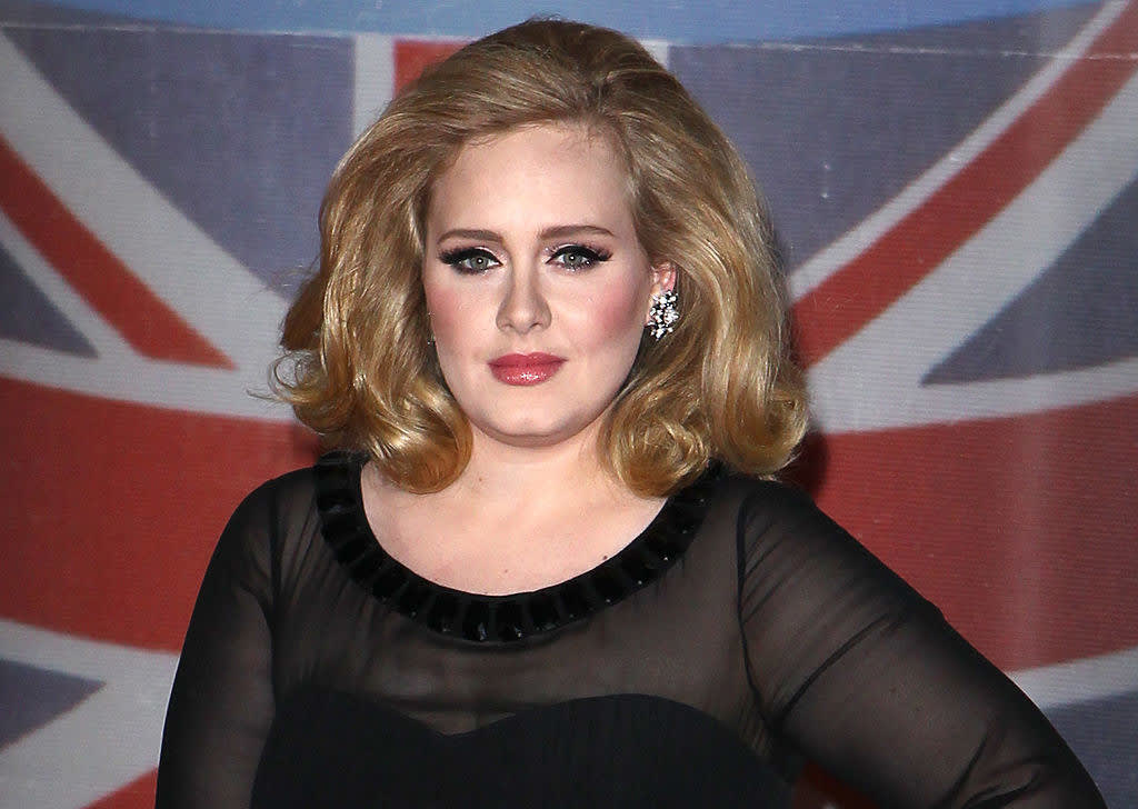 Adele attends the BRIT Awards