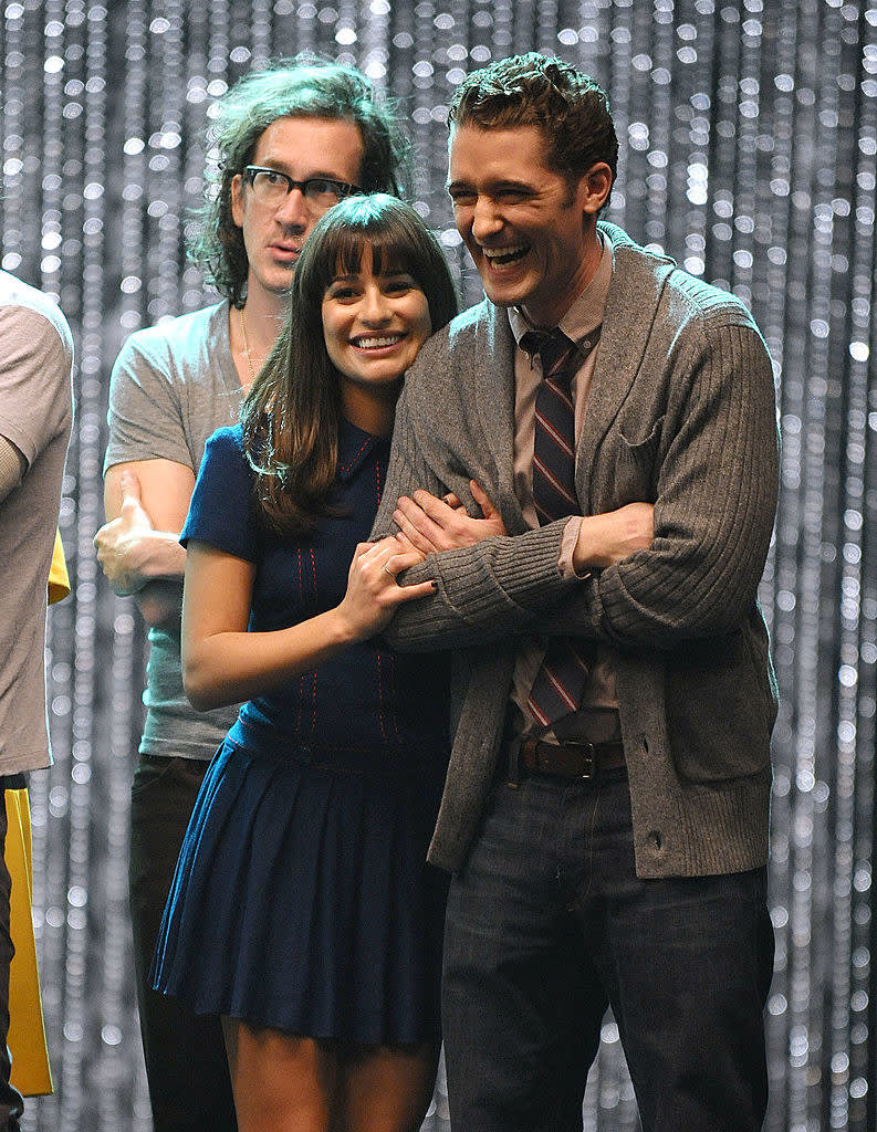 """Actors who played Mr Schue and Rachel on """"Glee"""""""