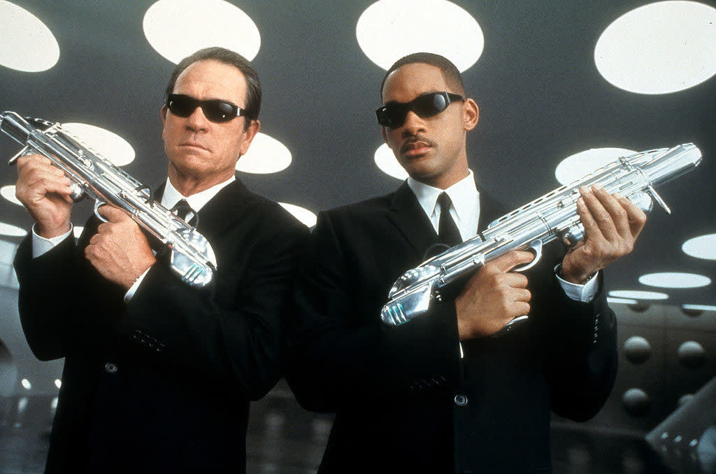 Tommy Lee Jones and Will Smith in publicity portrait for the film 'Men In Black II'