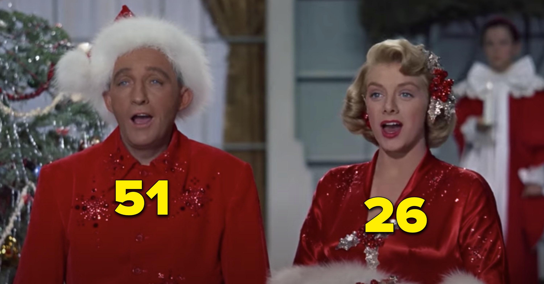 "Bing Crosby e Rosemary Clooney cantando em ""Natal Branco"""
