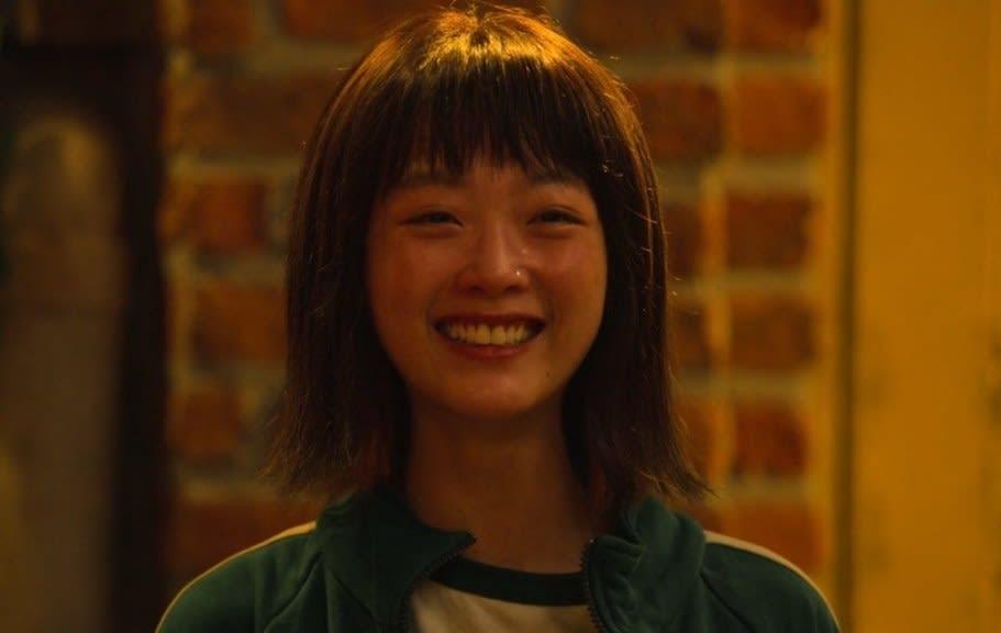 Close up of Ji-young smiling