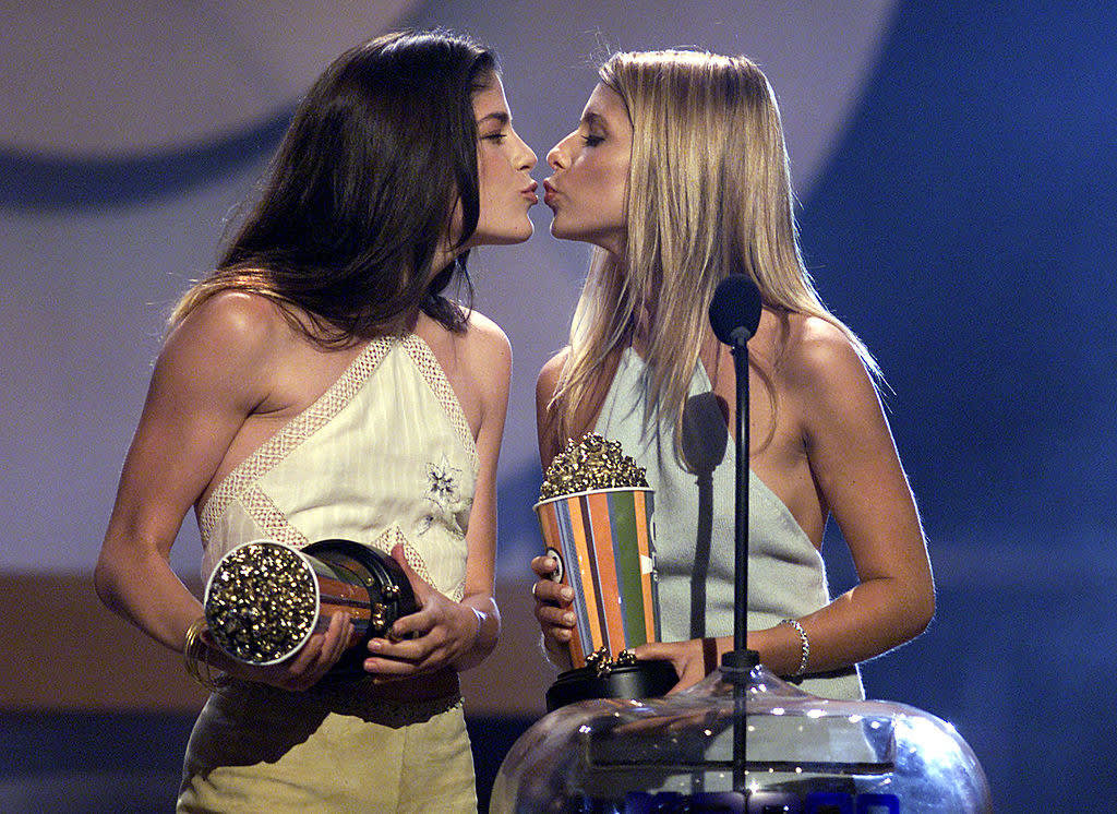 kissing selma blair