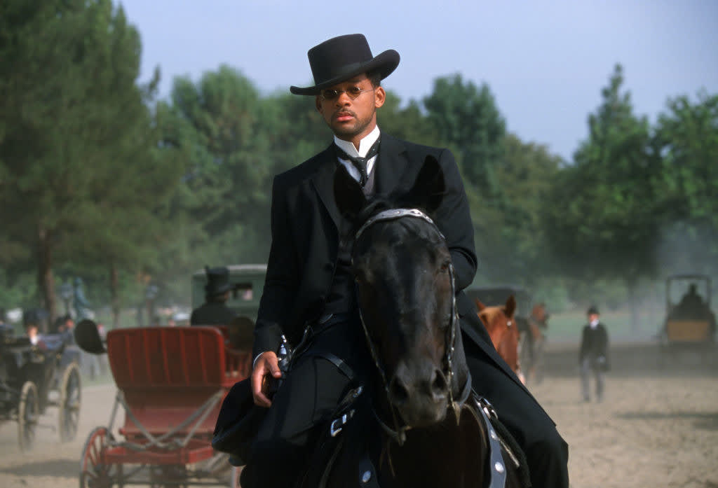 Will Smith as Captain James West in a scene from the film 'Wild Wild West'