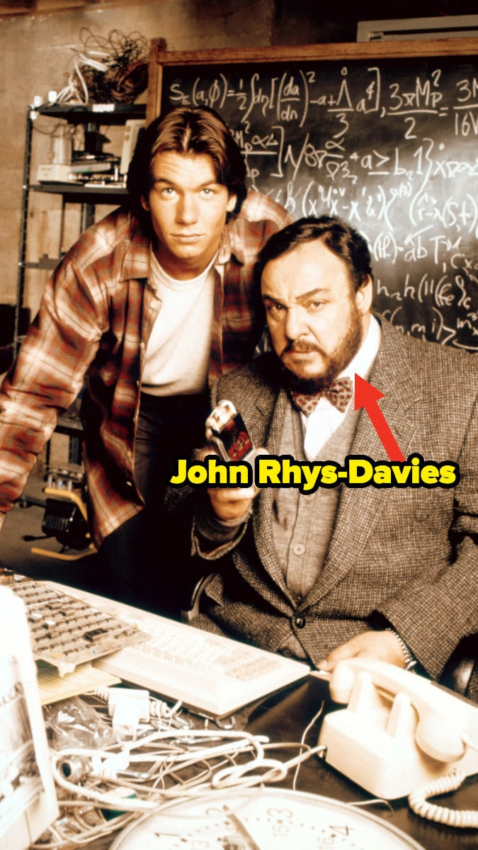 """Jerry O'Connell and John Rhys-Davies in """"Sliders"""""""