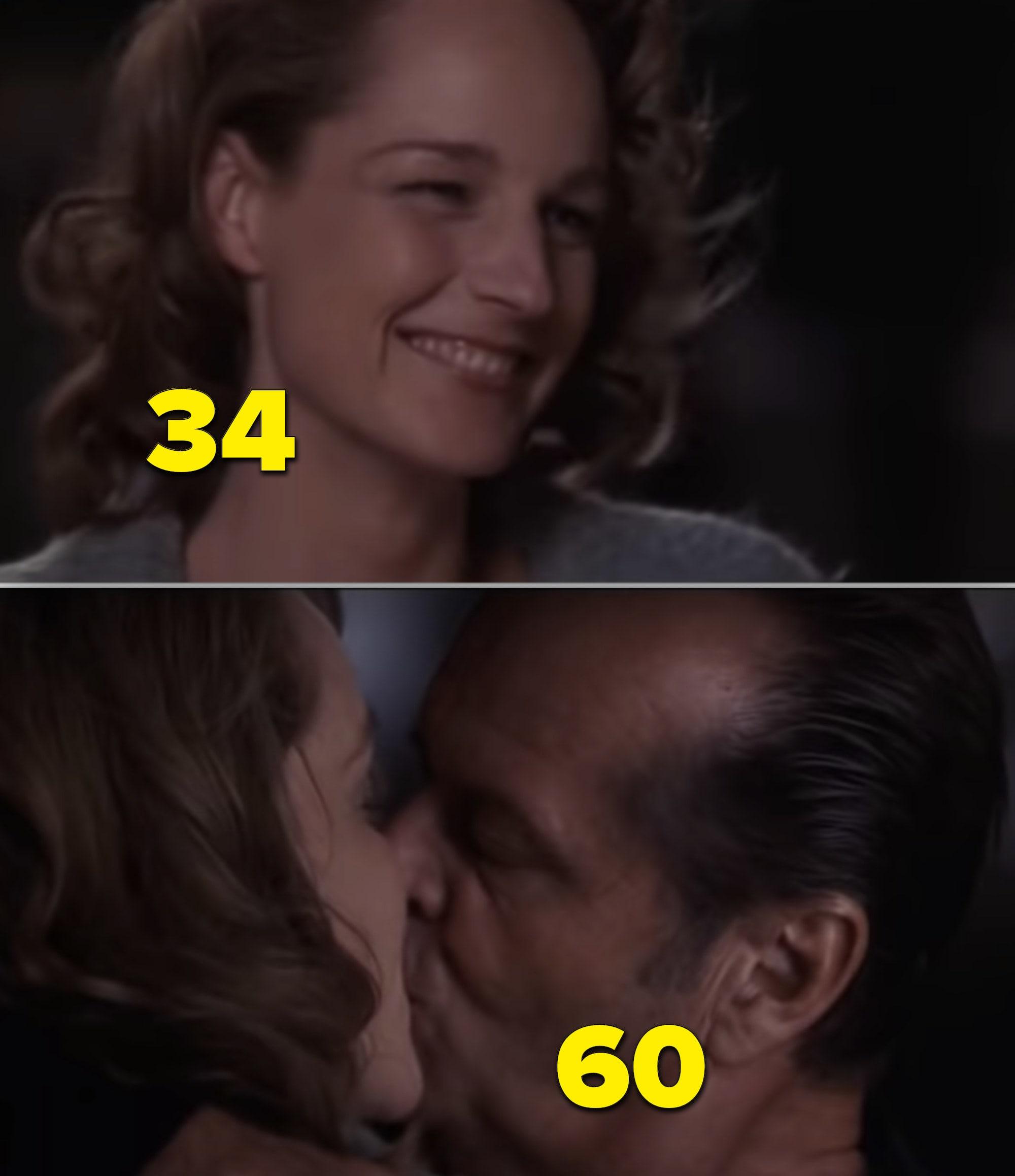 """Helen Hunt e Jack Nicholson beijando em """"Melhor é Impossível"""""""
