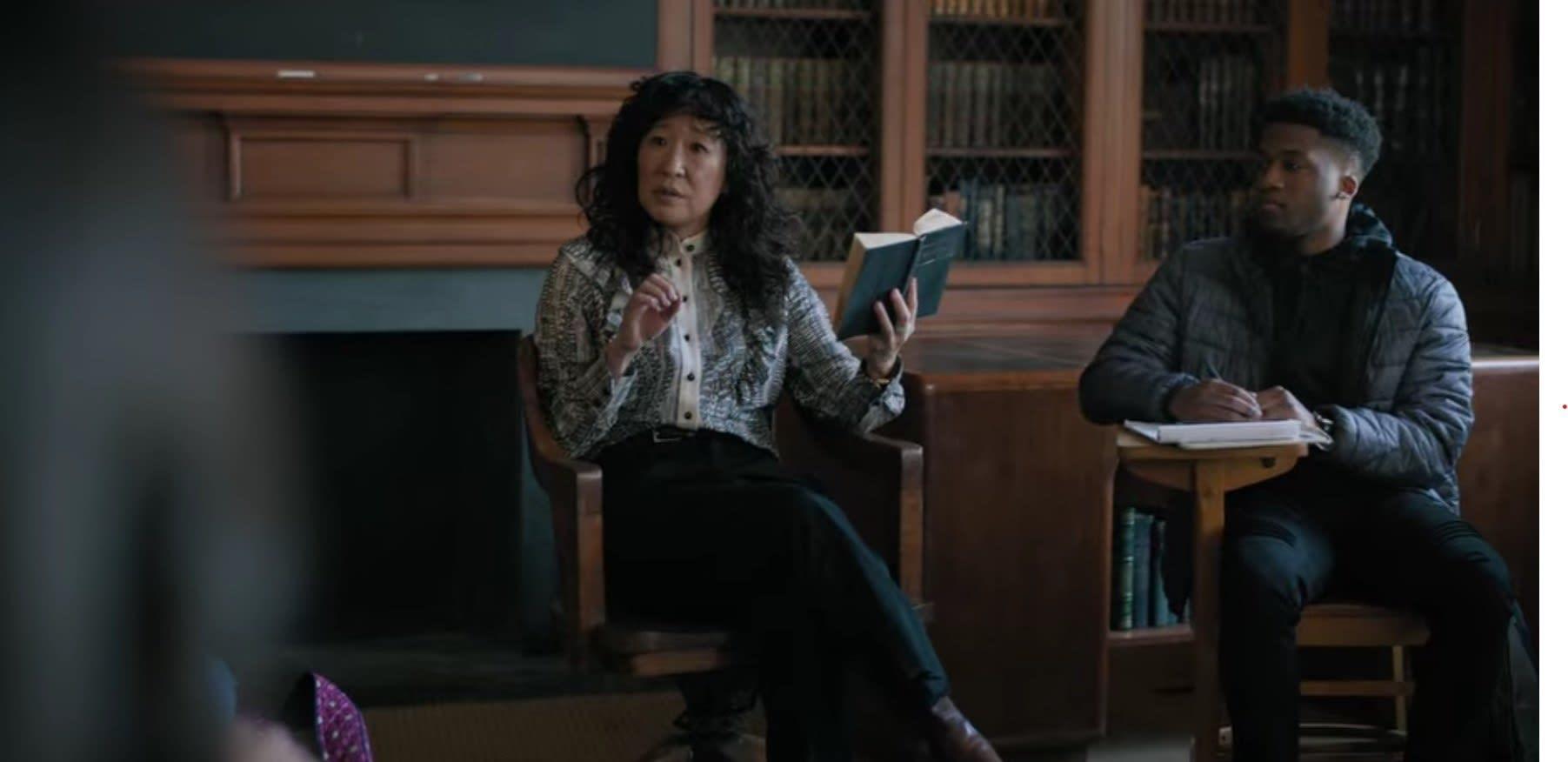 Ji-Yoon reads in class