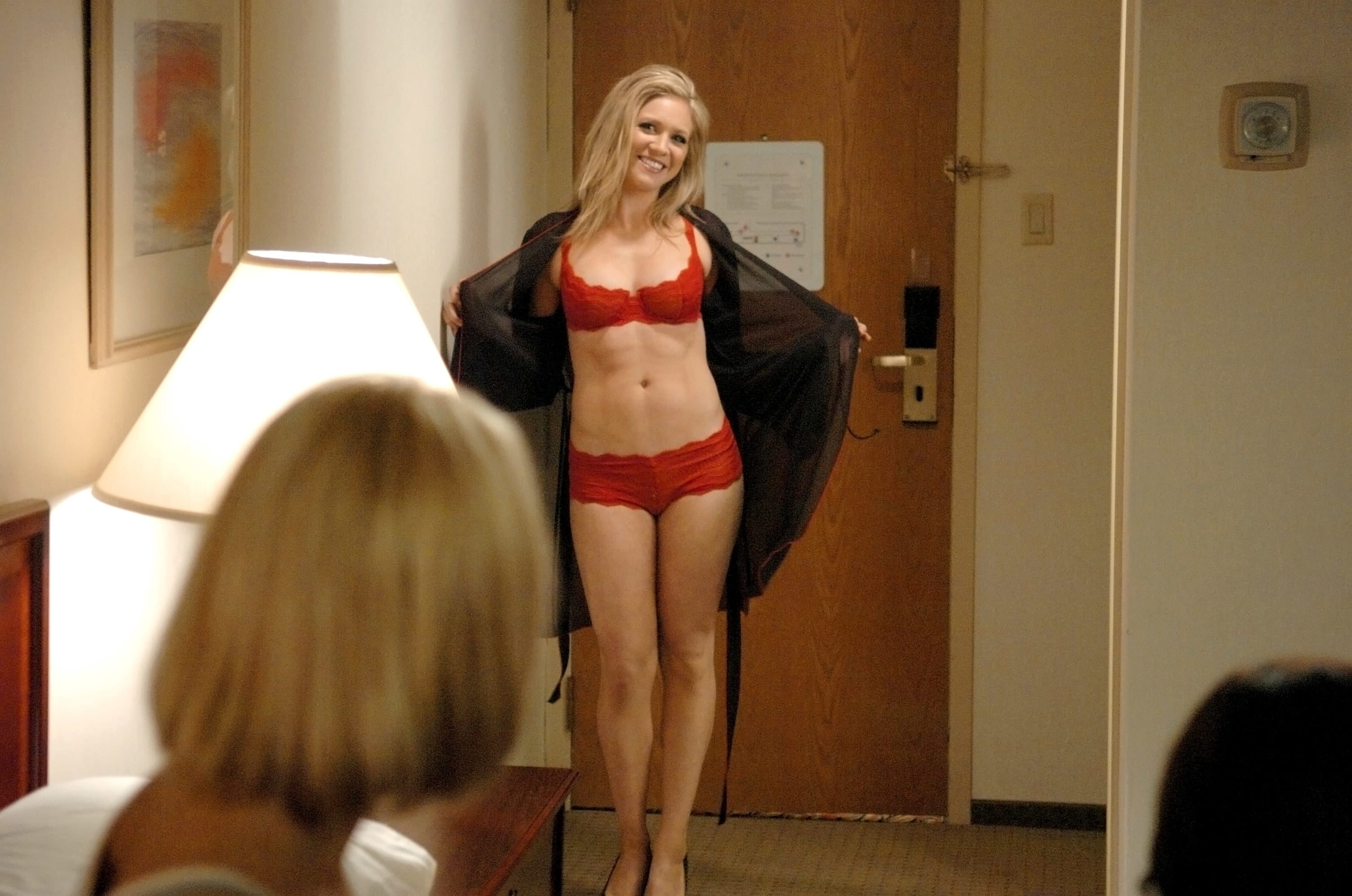 """Brittany Snow wearing a matching lingerie set in """"John Tucker Must Die"""""""