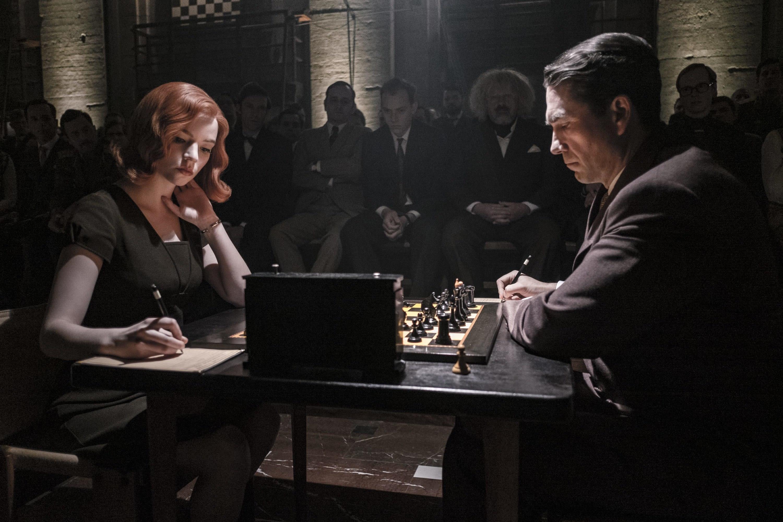 Beth concentrada durante um jogo