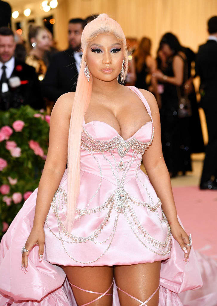 Nicki Minaj on the Met Gala Camp red carpet