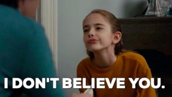 """""""Não acredito nisso."""""""