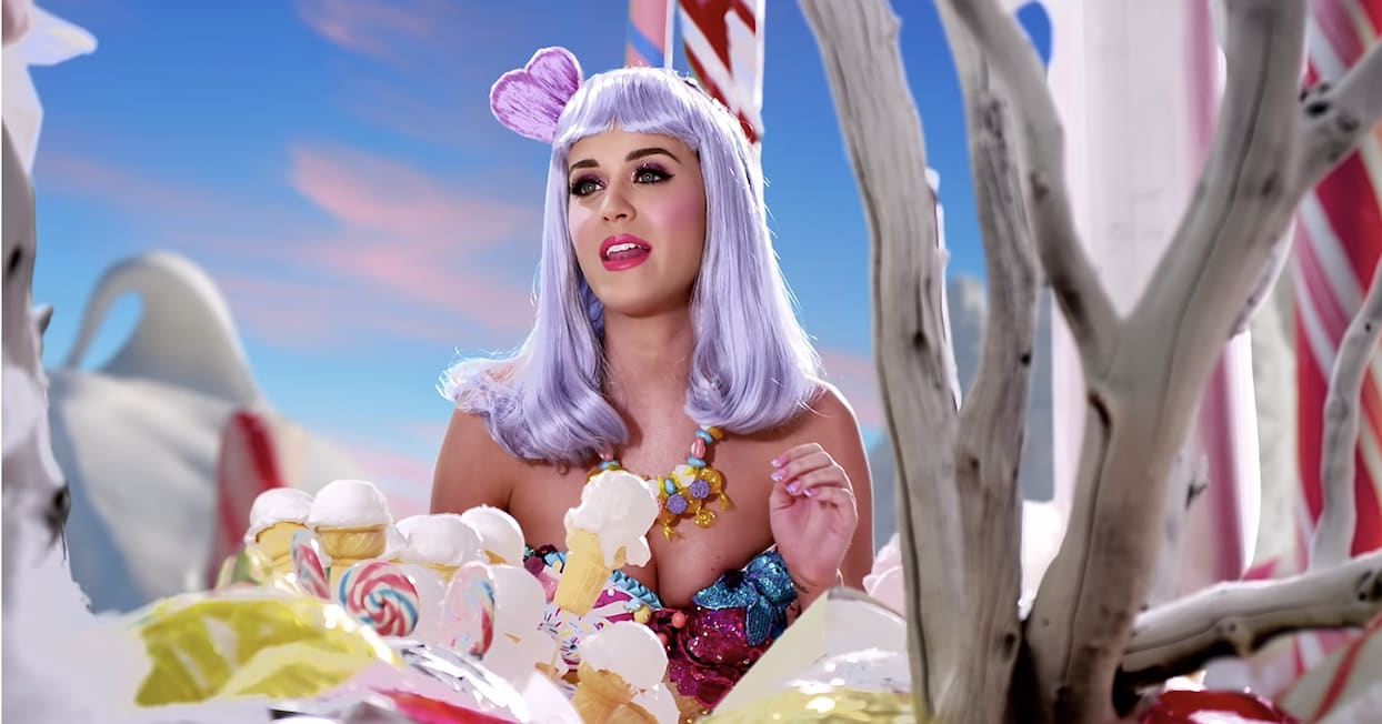 Katy Perry in the California Gurls music video