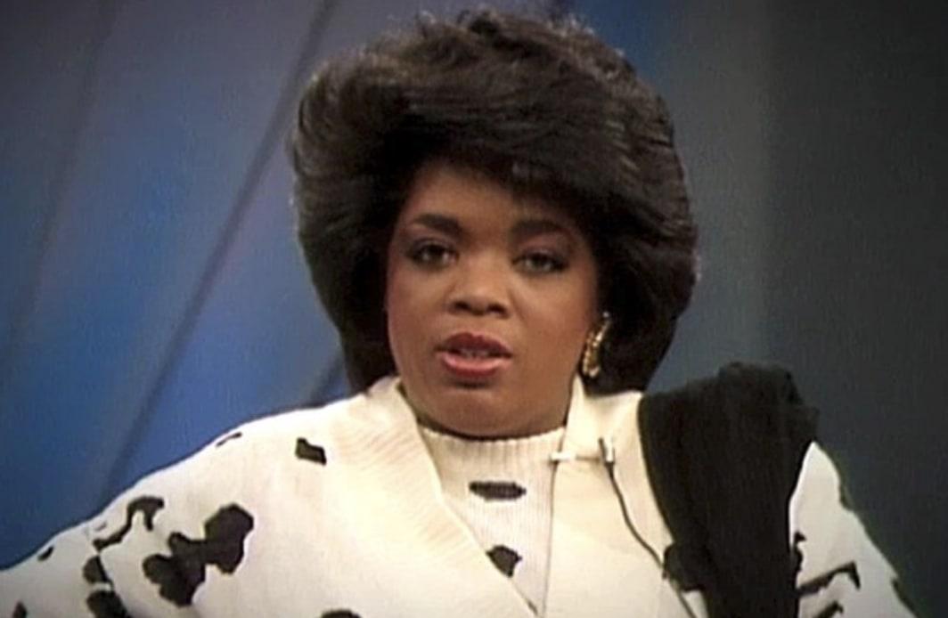 Oprah staring at the camera