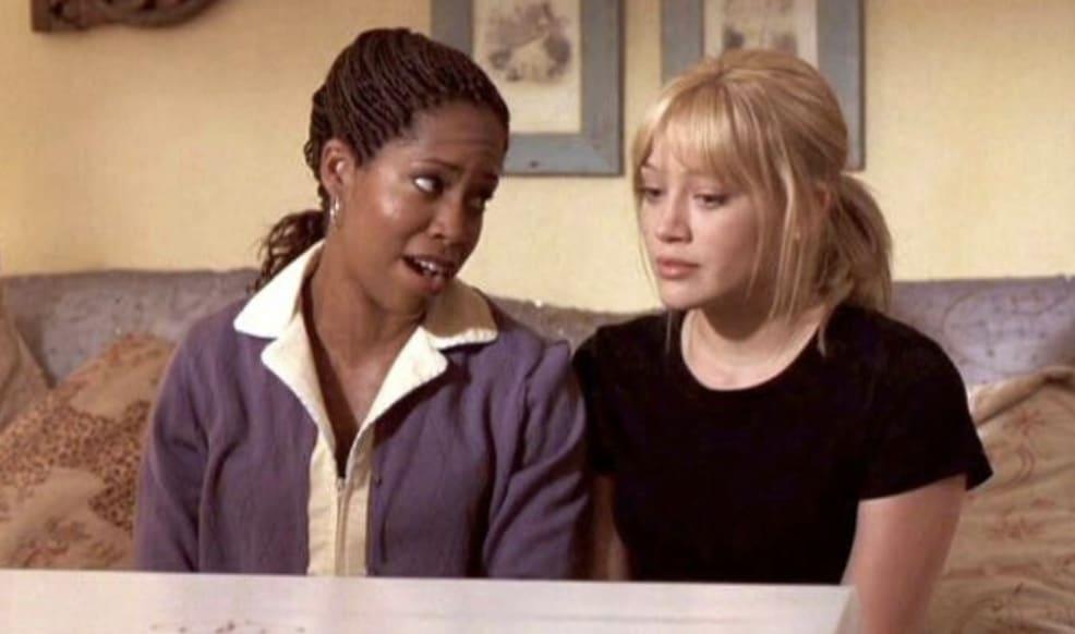 Rhonda consolando Sam