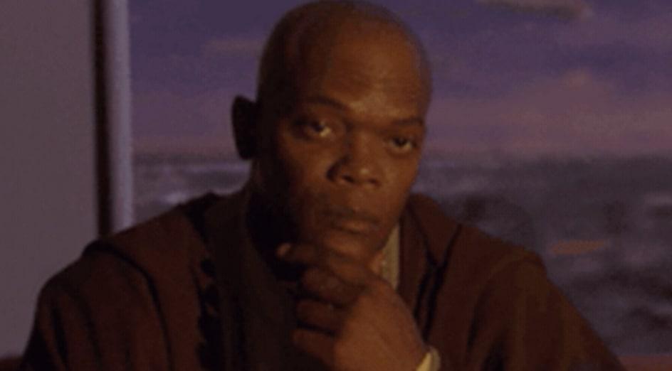 """Samuel L. Jackson em """"Star Wars: Episódio 2 – Ataque dos Clones"""""""