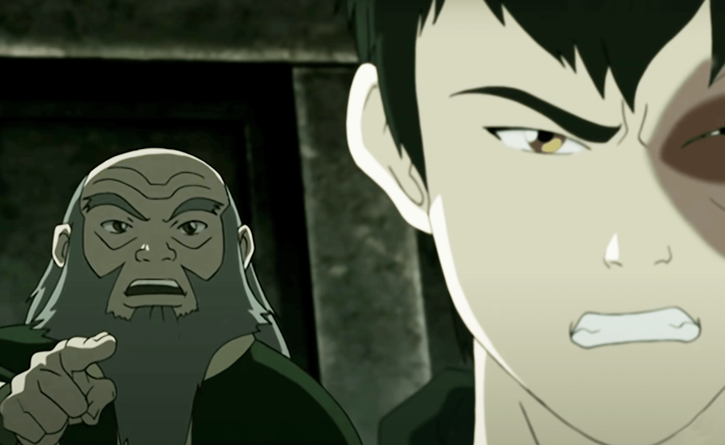 Iroh speaking with tough love to Zuko who is planning on doing something he feels pressured to do