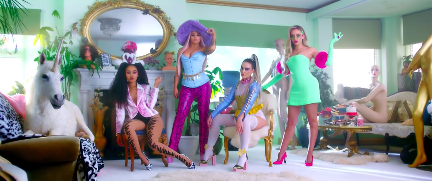"""Little Mix in their """"Bounce Back"""" music video"""