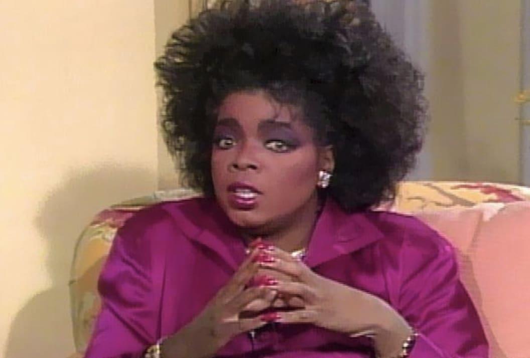 Oprah looking at the camera