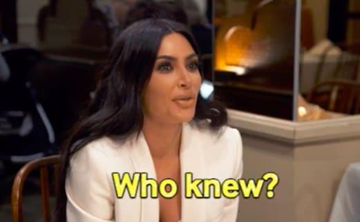 """kim kardashian dizendo """"Quem diria?"""""""