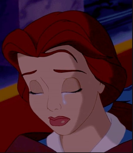 """Belle from """"Beauty and the Beast"""" crying"""