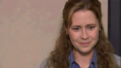 """Pam de """"The Office"""" chorando"""