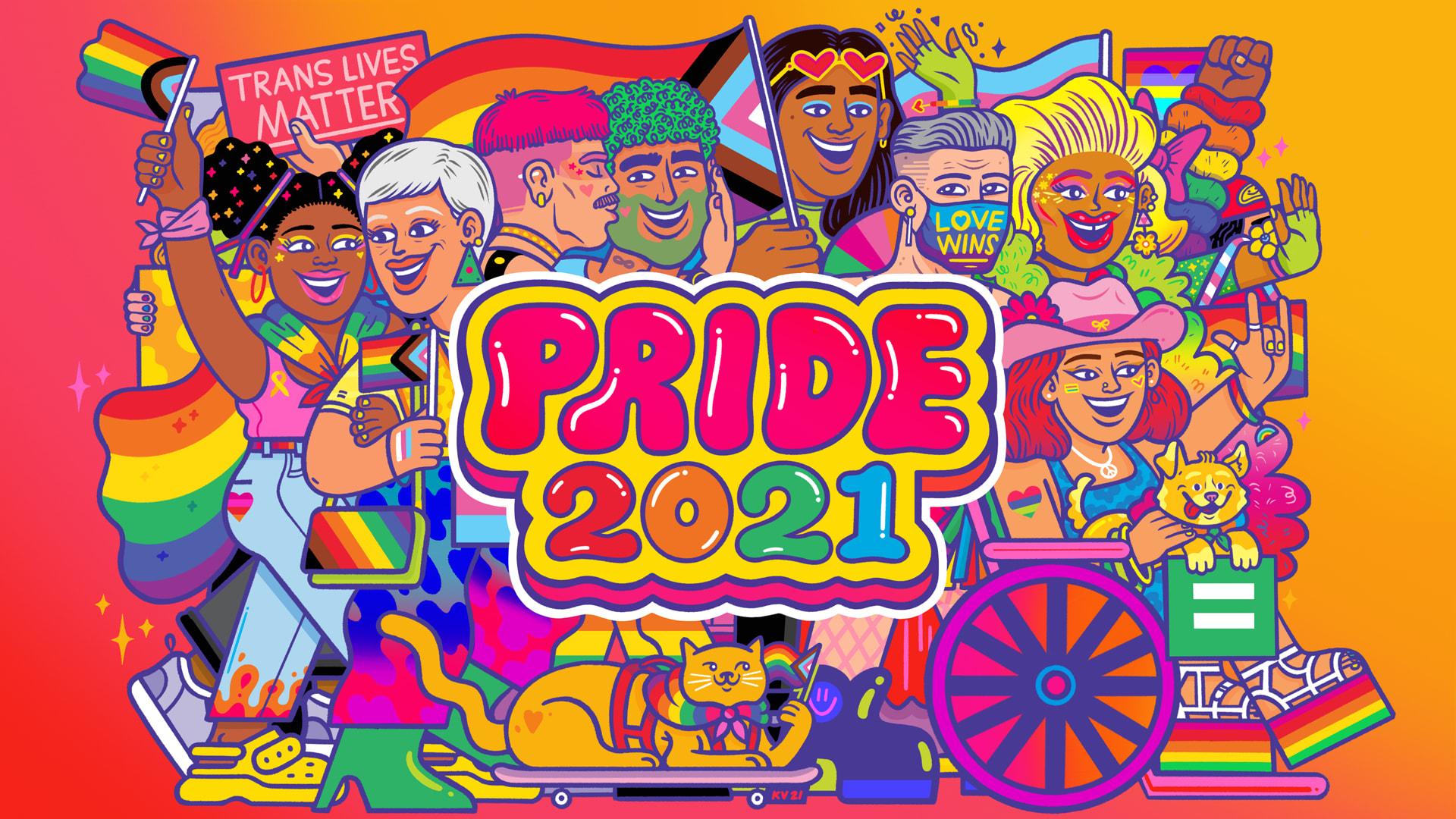 BuzzFeed Pride 2021 logo