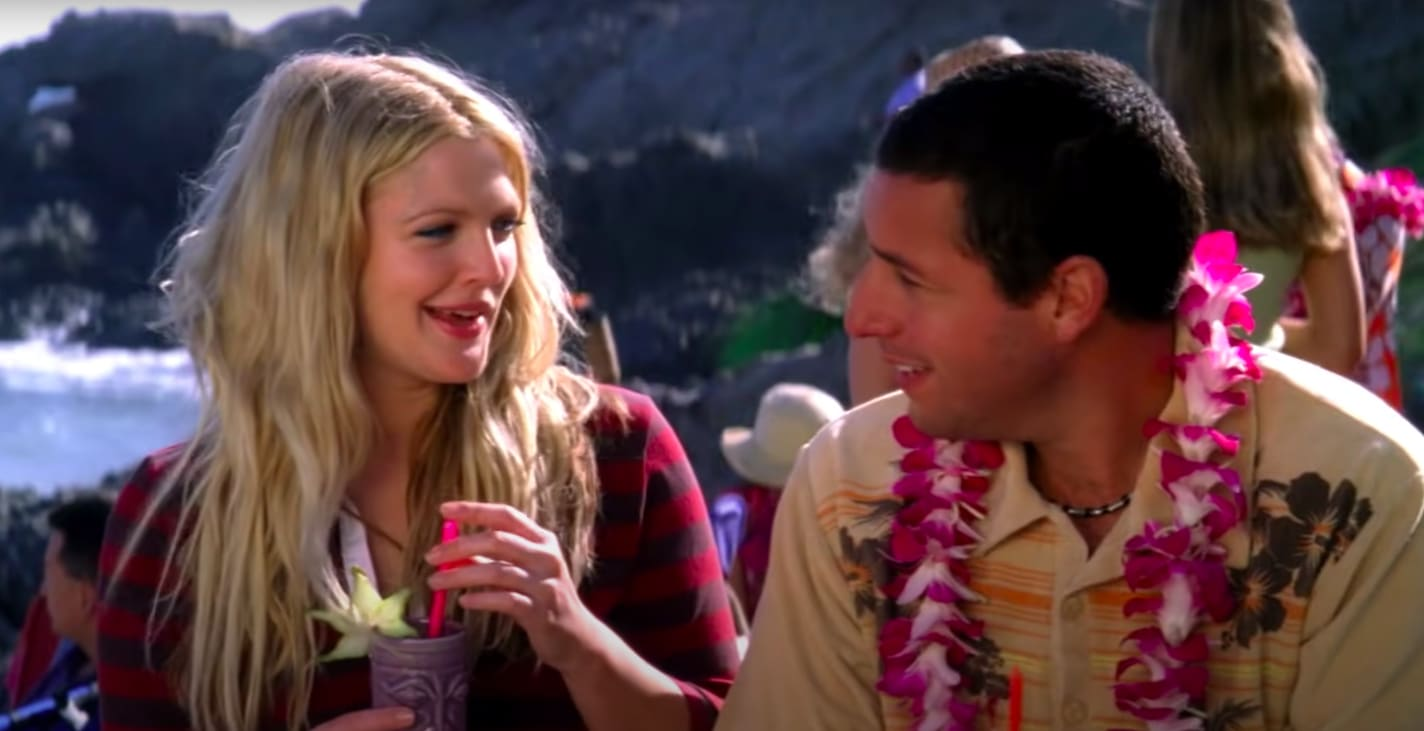"Lucy and Henry talking in ""50 First Dates"""