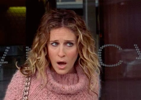 Carrie Bradshaw looking confused