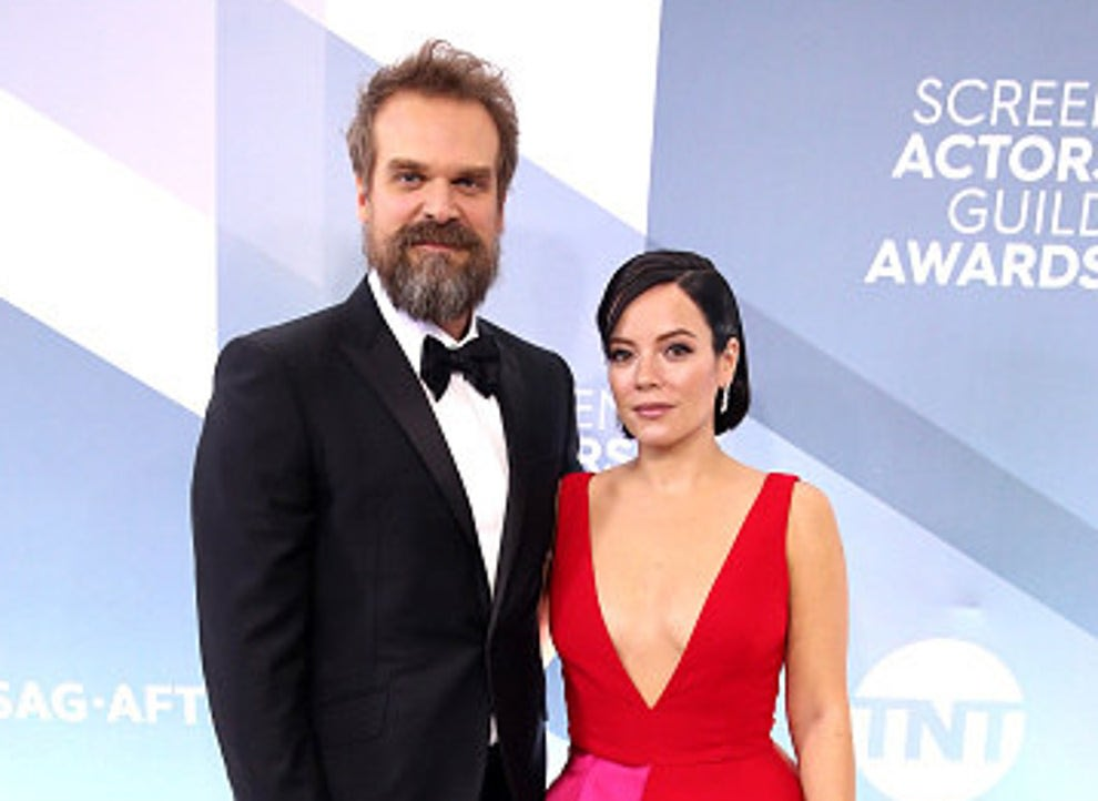 David and Lily on the SAG Awards red carpet