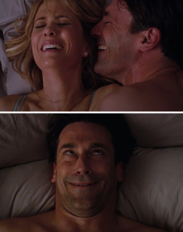 "Kristen Wiig and Jon Hamm in a sex scene from ""Bridesmaids"""