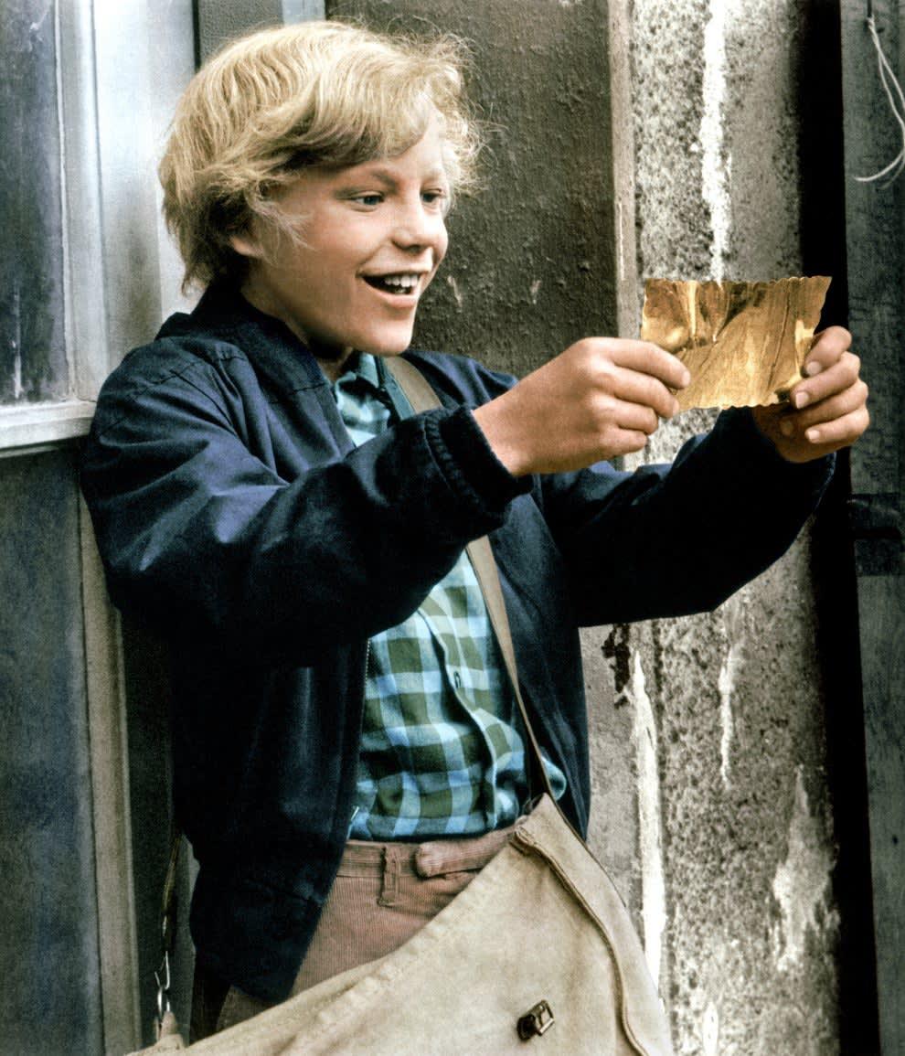 Charlie finds the golden ticket
