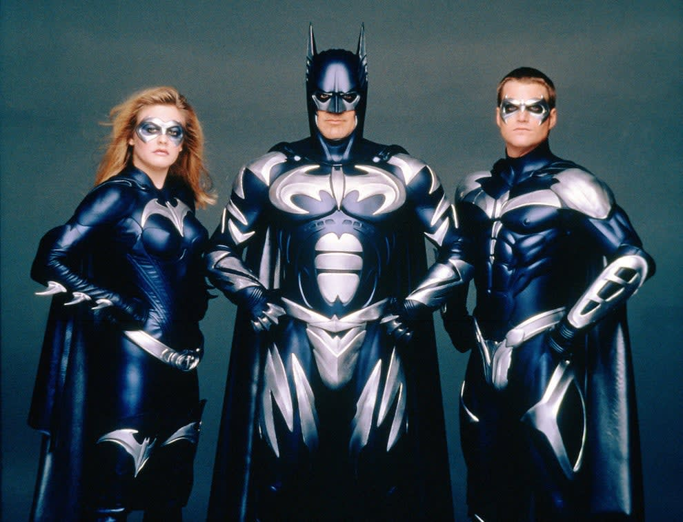 A promotional photo of George in his batman outfit